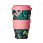 Sass & Belle bambusest kohvitops kaanega Kirevad lehed