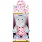 Baby Charms pehme muusikaline mänguasi Hippo roosa