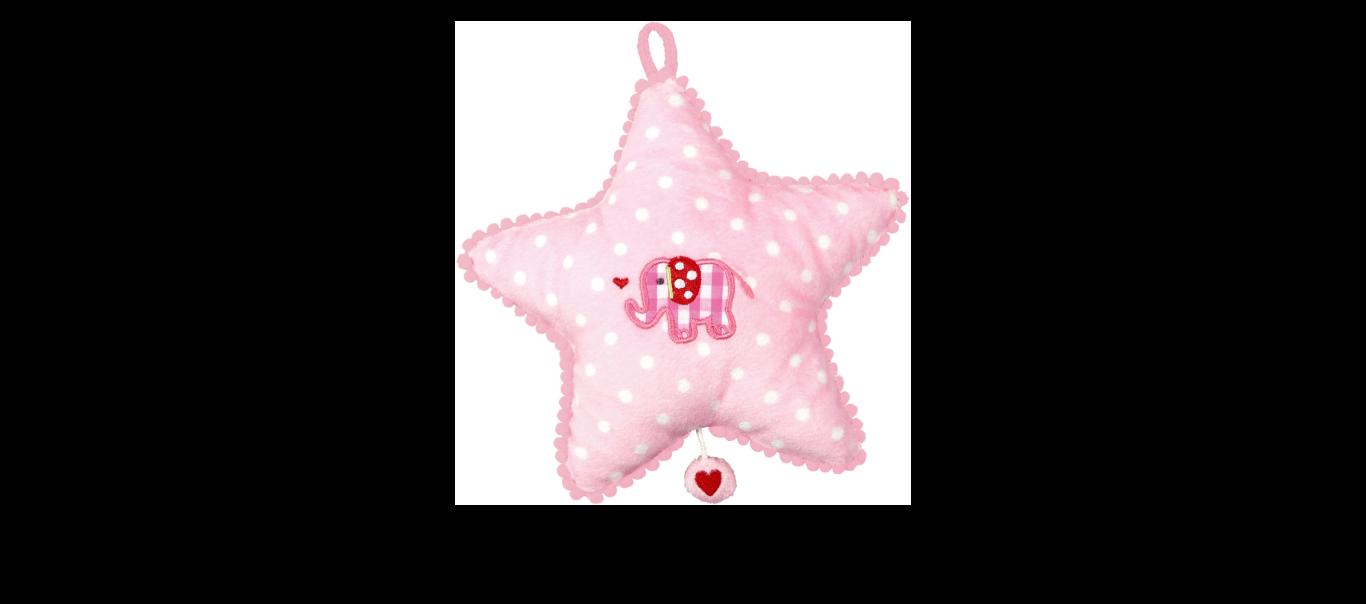 Baby Charms muusikaline mänguasi Täheke roosa