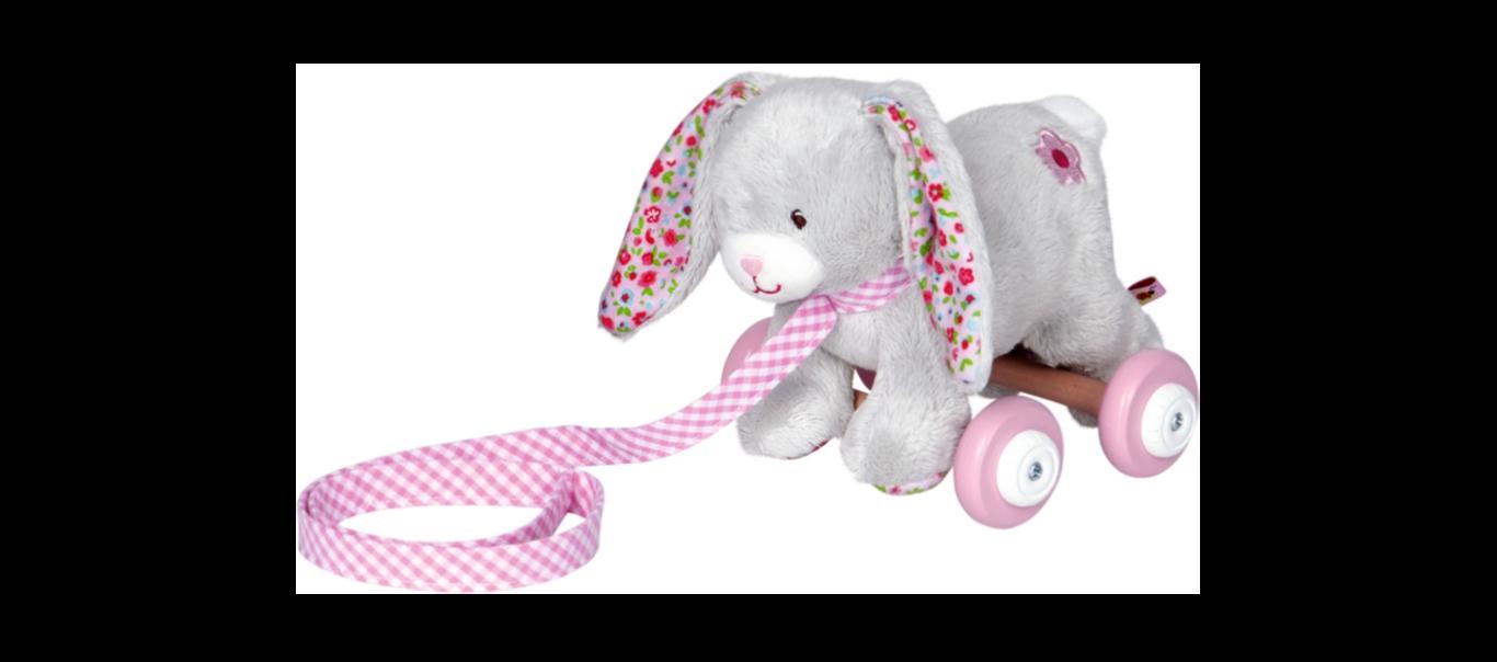 Baby Charms ratastel järelveetav mänguasi Jänku