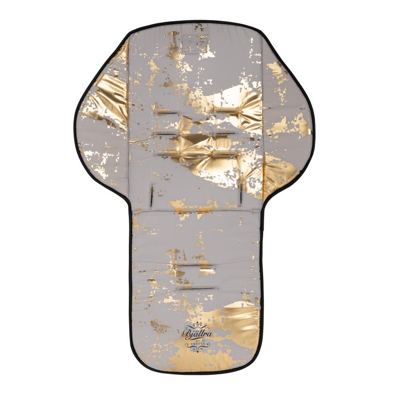 Bjällra jalutuskäru istmepehmendus-kate hall-kuldne kollektsioon