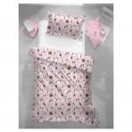 Bradley voodipesukomplekt tekikott ja padjapüür Lotte roosa
