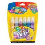 Colorino Kids metallikvärvid tuubis harjadega 6tk