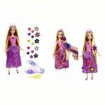 Disney printsess juuksekaunistustega Rapunzel