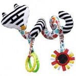 Hencz Toys pehme vankri-turvahälli mänguasi Rebane valge