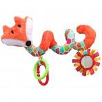 Hencz Toys pehme vankri-turvahälli mänguasi Rebane