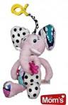 Hencz Toys riputatav mänguasi Elevant roosa