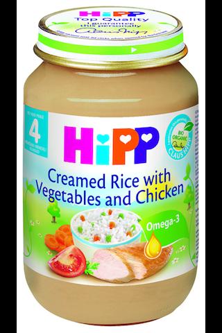 HIPP Juurvilja-riisikreem kanalihaga BIO 4+ kuud 6x190g