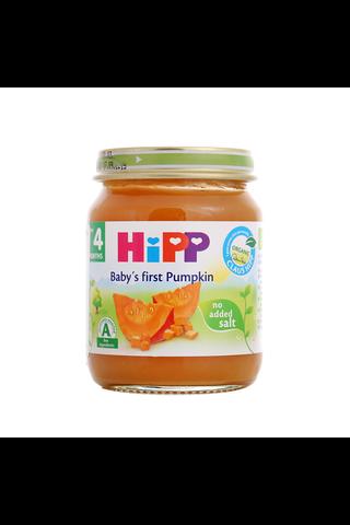 HIPP Kõrvitsapüree BIO 4+kuud 6x125g