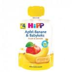 HIPP Puuviljarõõm õuna-banaanipüree beebiküpsistega BIO 6x90g