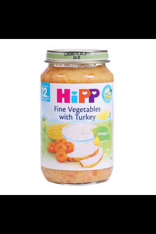 HIPP Juurviljapüree riisi ja kalkunilihaga BIO 12+kuud 6x220g