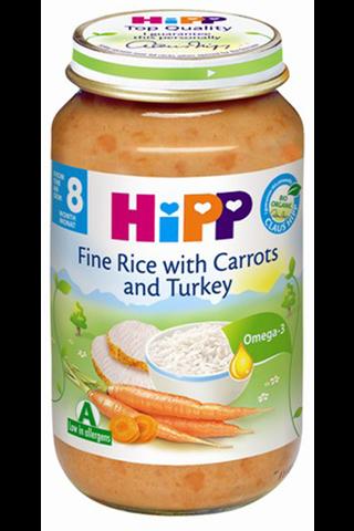 HIPP Riisi-porgandipüree kalkunilihaga BIO 8+ kuud 6x220g