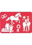 Hobusesõprade šabloon-2tk