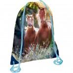 Hobusesõprade väike seljakott-sussikott Ma armastan hobuseid