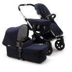 Bugaboo Donkey3 vankrikomplekt Mono Classic Collection Alum/Dark Navy