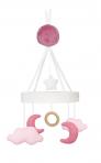JaBaDaBaDo muusikaga voodikarussell Kuu&Pilved roosa