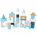 JaBaDaBaDo puidust sinised ehitusklotsid 50-osaline
