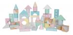 JaBaDaBaDo puidust värvilised ehitusklotsid 50-osaline