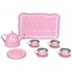 JaBaDaBaDo roosa tee serviis kohvris