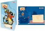 Kapten Sharky kaart-kutse ümbrikuga 6tk