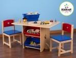 KidKraft laud ja toolid  hoiukastidega