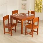 KidKraft laud ja 4 tooli- Pecan