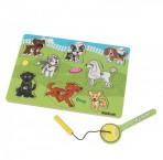Kidkraft puidust pusle magnetiga Koerad