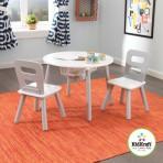 KidKraft ümmargune laud ja kaks tooli hall UUS