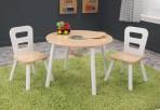 KidKraft ümmargune laud ja kaks tooli Natural