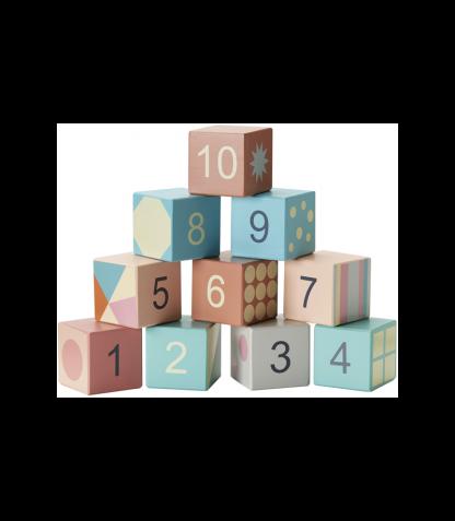 Kids Concept puidust ehitusklotsid numbritega Edvin