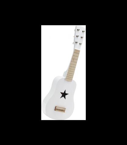 Kids Concept puidust kitarr valge