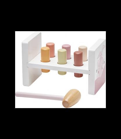 Kids Concept puidust kopsimismäng roosa