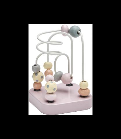 Kids Concept puidust mini motoorikakeskus roosa