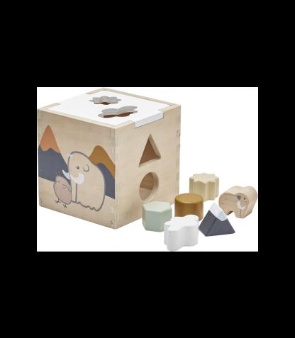Kids Concept puidust sorteerimiskuubik Neo