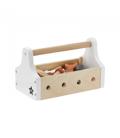 Kids Concept puidust tööriistakarp Star naturaalne