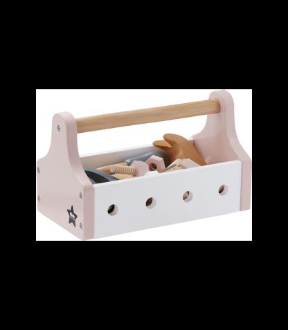 Kids Concept puidust tööriistakarp Star roosa