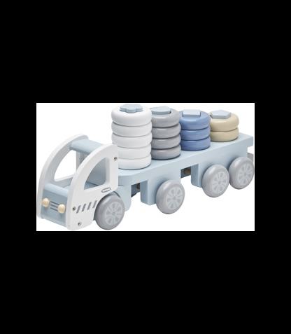 Kids Concept puidust torniladumise komplekt Auto sinine