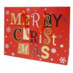 Kinkekott punane Merry Christmas! 41x13x31cm