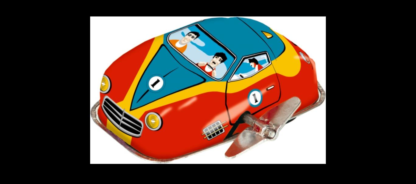 Kirjud Kingitused väike üleskeeratav auto