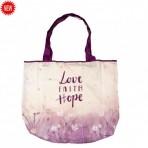 Kokkukäiv ostukott Love Faith Hope