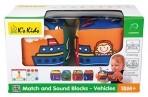 Ks Kids pehmed kuubikud Sobita ja kuula- Sõidukid