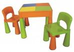 Laste laud ja kaks tooli 5in1