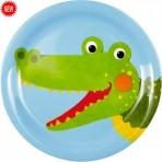 Lõbus Loomaparaad melamiinist taldrik Krokodill