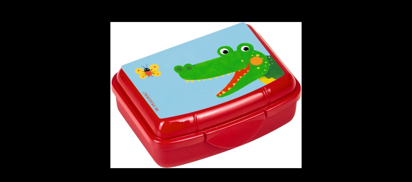 Lõbus Loomaparaad mini snäki-karp Krokodill