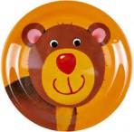 Lõbus Loomaparaad taldrik melamiinist Karu