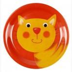 Lõbus Loomaparaad taldrik melamiinist Kass