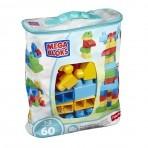 Fisher-Price Mega Bloks suur klotsikott 60tk sinine
