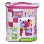 Fisher-Price Mega Bloks  klotsikott 60tk roosa