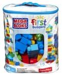 Fisher-Price Mega Bloks suur klotsikott 80tk sinine