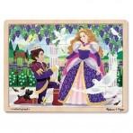 Melissa & Doug puidust pusle Prints ja printsess 24-osa